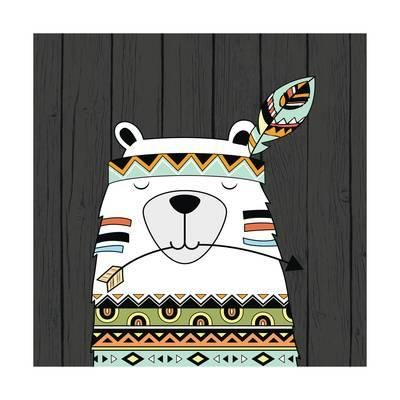 Tribal Bear Art Print by Tamara Robinson at Art.com