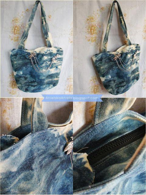 Diy Tutorial Zipper shopper bag jak uszyć torebkę zamykaną na zamek błyskawiczny krok po kroku diy