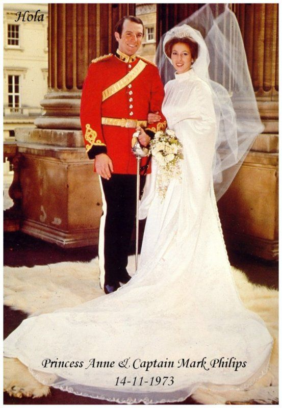 The wedding dress princess anne of england for Princess anne wedding dress
