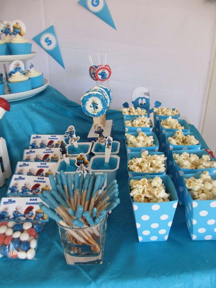 smurfs birthday party ideas