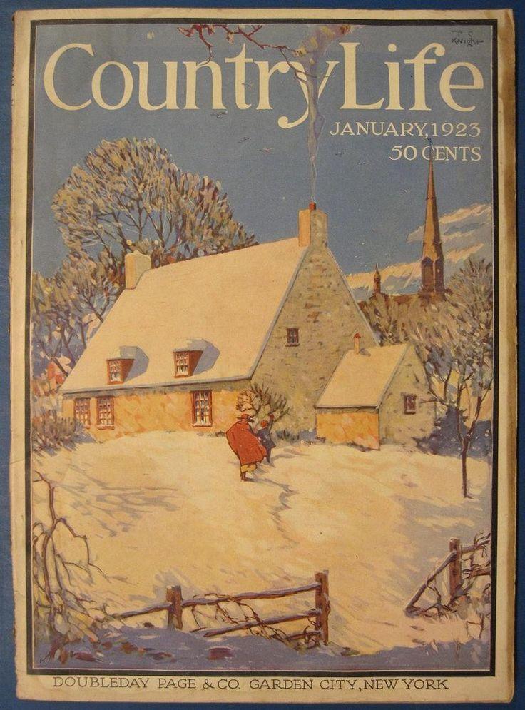 Country Life Magazine Estates Grand Homes 01/1923