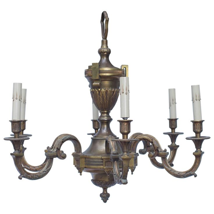 Early 20th Century French Empire Bronze Chandelier