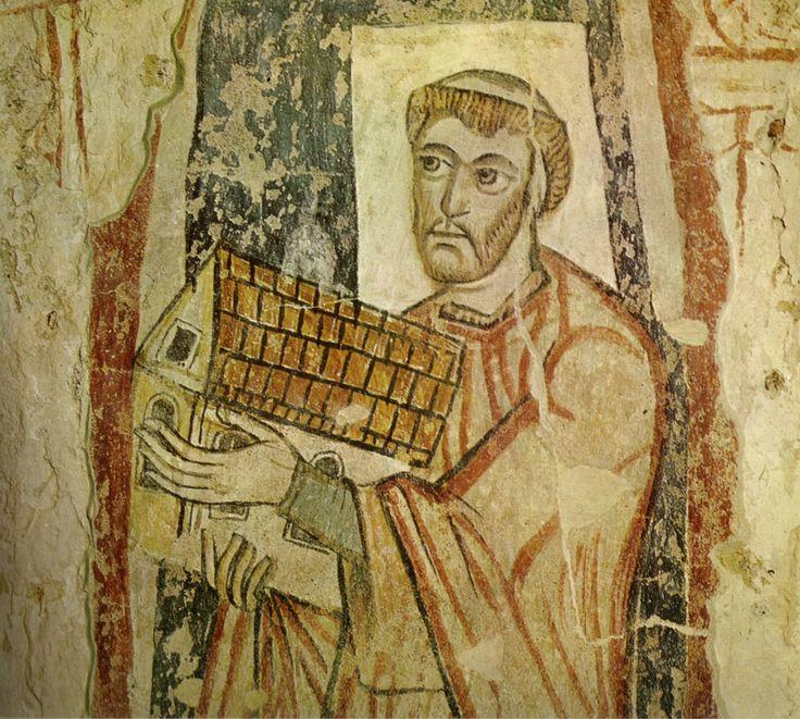"""Donant sacerdotal a l'oratori de Sant Benet, a Malles; Anterior al any 881   Se li ha descrit com """"el més bonic retrat de l'època carolíngia"""""""