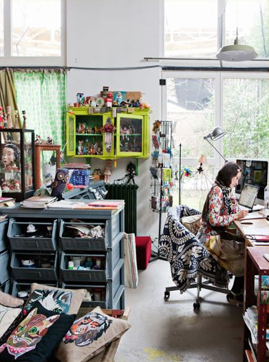 L'intérieur de la créatrice Nathalie Lété côté Atelier