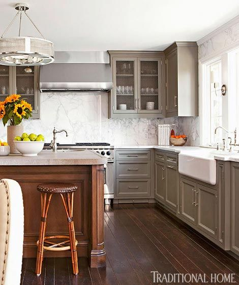 Benjamin Moore Colors For Kitchen: Kitchen Cabinet Color BM Gettysburg Gray