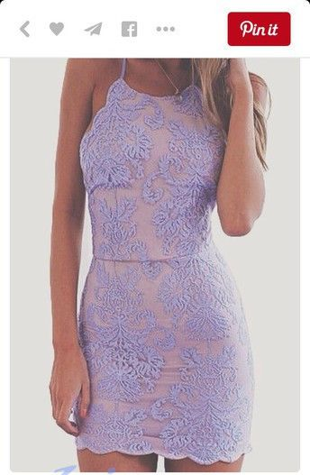 Lavender Homecoming Dress,Lace Homecoming Dresses,Short Prom Gown,Homecoming Gowns,2015 Homecoming Dress,Cheap Homecoming Dresses - Thumbnail 2