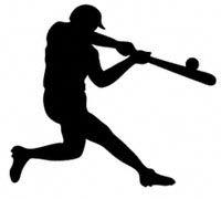 Baseball Batter Shadow Wood Pattern Batter up...Make this life-size baseball batter. #diy #woodcraftpatterns