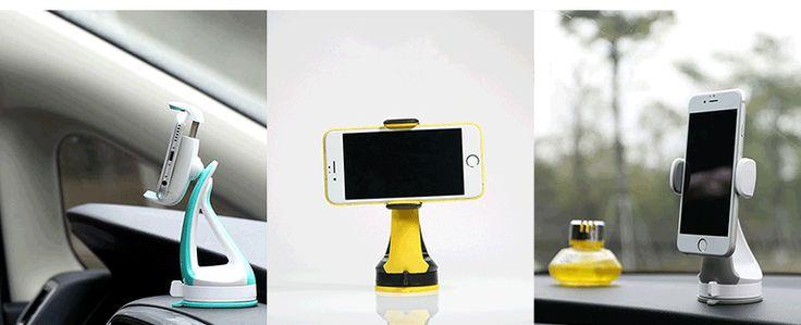 Uniwersalny uchwyt samochodowy z przyssawką do szyby na telefon Remax szary