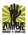 Zombie Burger in Des Moines, Iowa - Burgers on the menu include Dead Moines, The Walking Ched, Undead Elvis, La Horde, T-Virus, and a desert called the Zombie Bride Wedding Cake Shake!