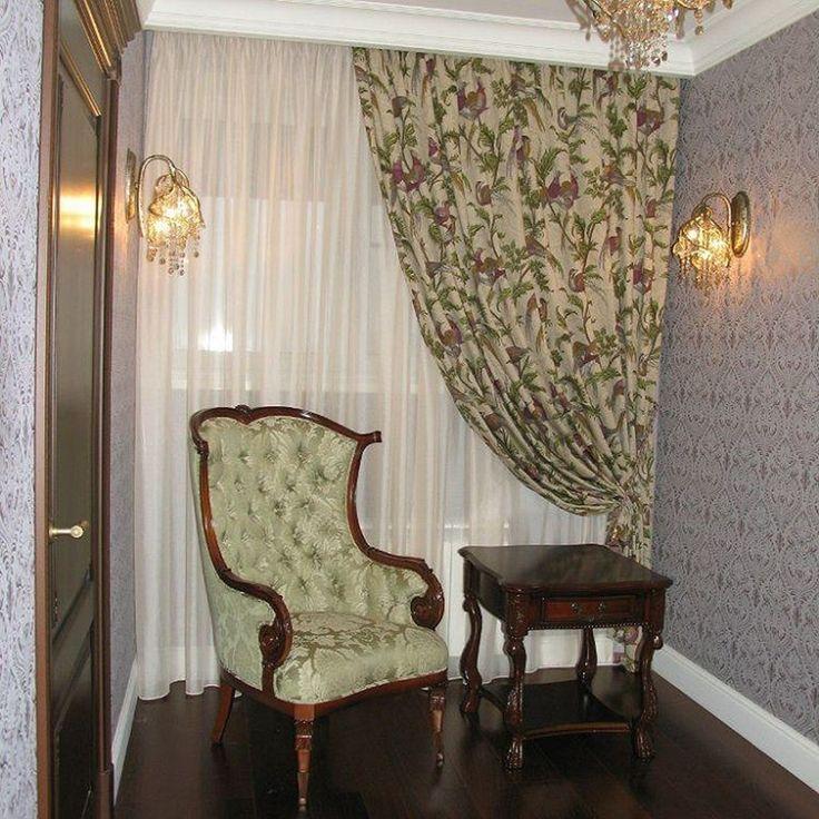 Время фазанов: хлопок #PHEASANT_HUNT #Galleria_Arben украсил #окно в холле, декоратор @liliatroegubova #шторы #decoration #fabric #interior