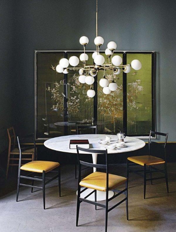 Designing A Jewel Box Apartment Tulip TableVintage StyleRetro StyleChandeliersFine DiningSmall