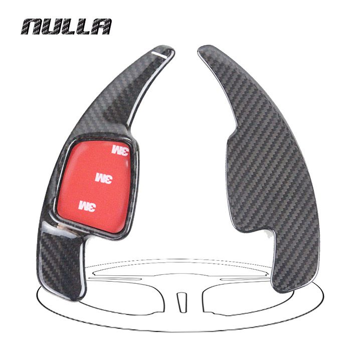 NULLA for AUDI A3 A4L A5 Q7 TT TTS S4 Q2 S3 SQ5 2016 2017 Car Sticker Carbon Fiber Steering Wheel Paddle Shift Extension Shifter. Yesterday's price: US $83.99 (68.80 EUR). Today's price: US $68.87 (56.70 EUR). Discount: 18%.