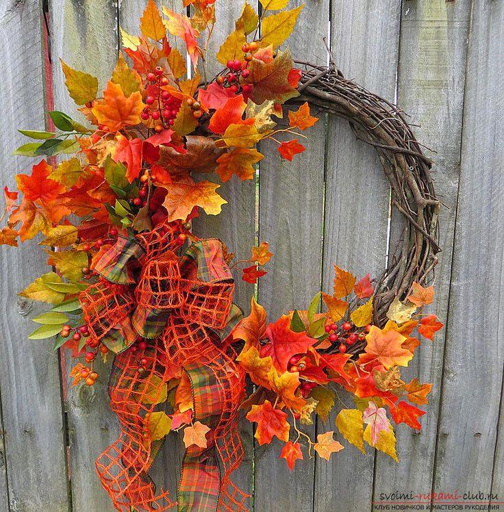 Изготовление осенних венков из листьев.. Фото №2