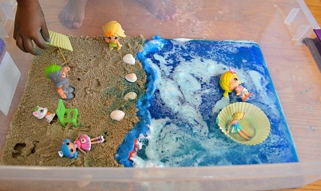 """Summer beach small world ("""",)"""