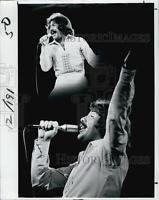 1978 Press Photo Tony Orlando, Pop Music, Wind, Tony Orlando And Dawn