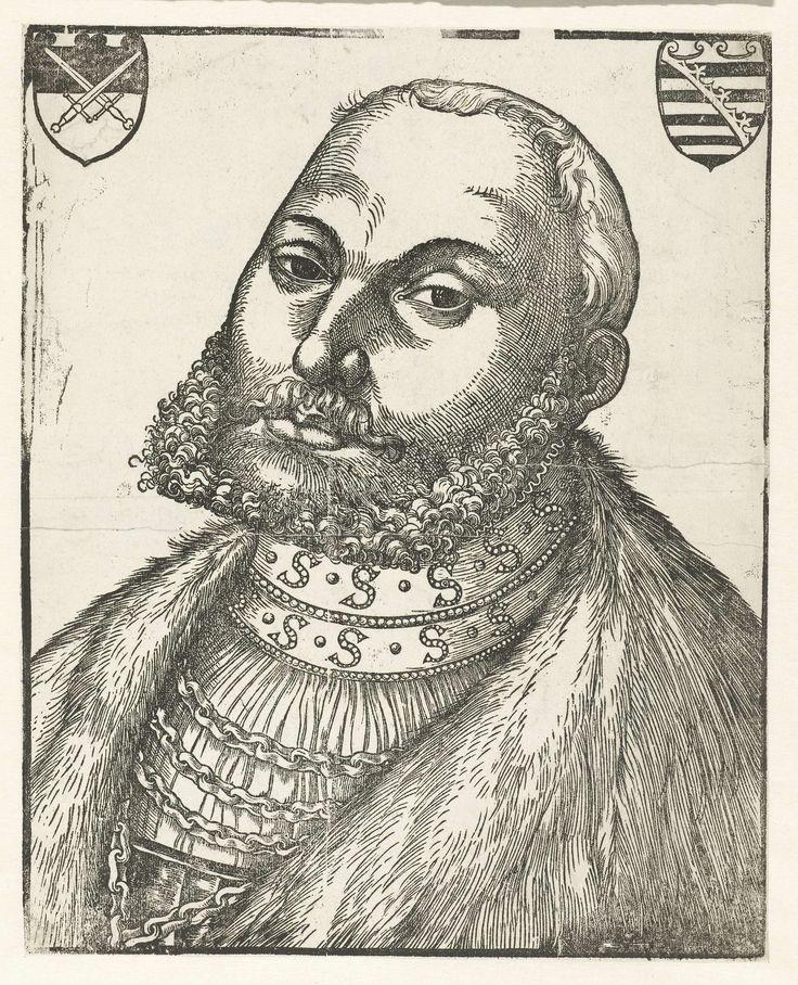 Portret van Johan Frederik I (Johan Frederik de Grootmoedige) hertog van Saksen, Lucas Cranach (I), 1503 - 1603