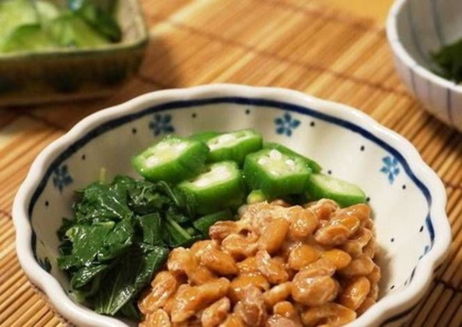 For Summer Fatigue Natto with MulÅkhÄya and Okra Recipe -  Very Delicious. You must try this recipe!