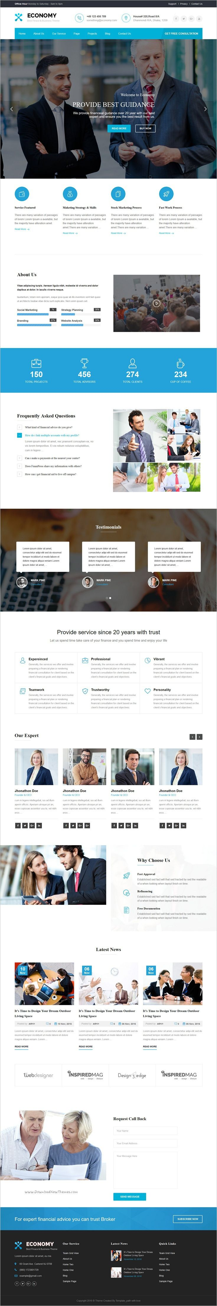 Economy is a clean and Modern 2 in 1 WordPress Theme best