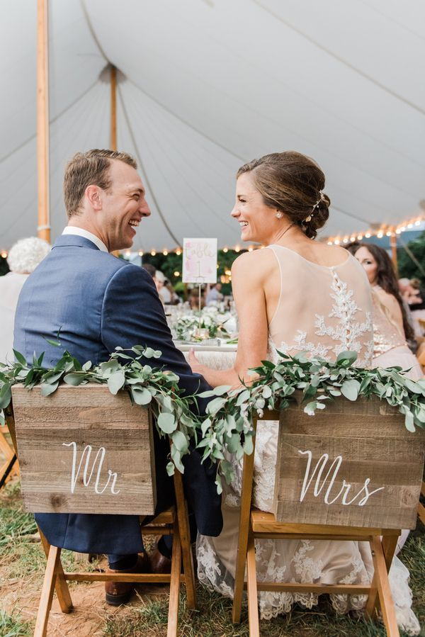 Kristen and Cole's Garden-Inspired Wedding in Virginia #realwedding #outdoorwedding #farmwedding