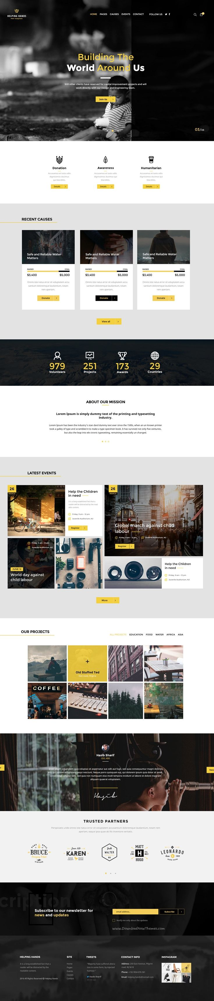Helping Hands is beautifully design 3 in 1 PSD Template for Multipurpose #Non-profit #organizations #website. Download Now!