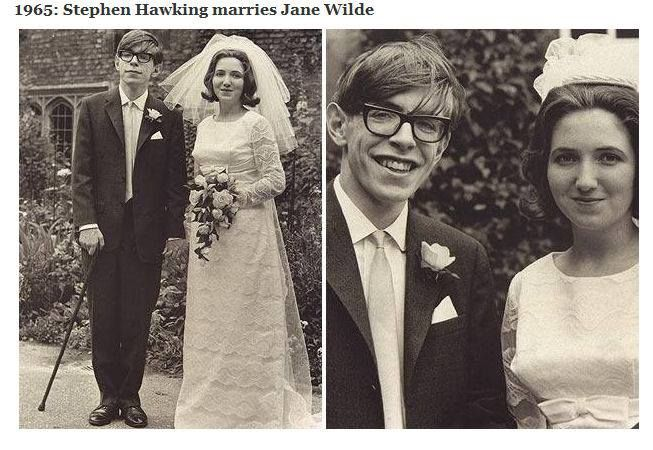 Stephen Hawking marries Jane Wilde  1965