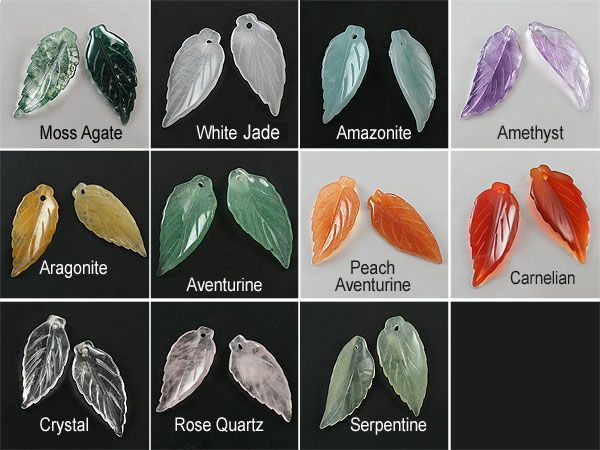 SmartyHands.com: Amazonite Leaf carving #C-24 / 1pc