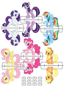 My Little Pony Birthday Party- Printable (Free)- Stand-up Paper Doll Ponies (Deviant Art)