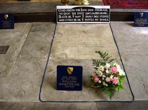 Shakespeare sírja | forrás: wikipedia.org - PROAKTIVdirekt Életmód magazin és hírek - proaktivdirekt.com