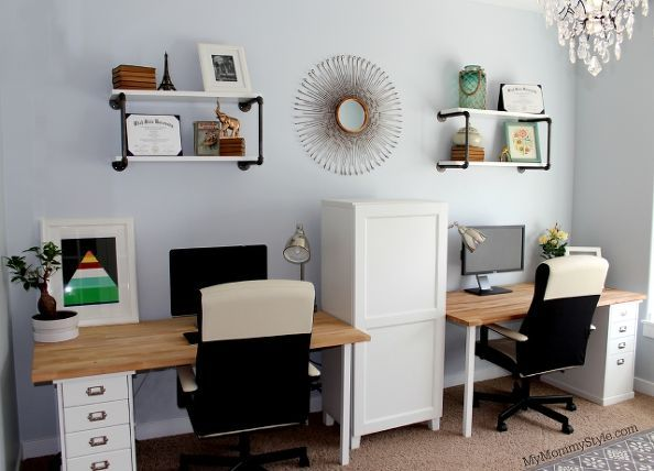 a family office and guest room in one, bathroom ideas, crafts, doors, organizing, painted furniture
