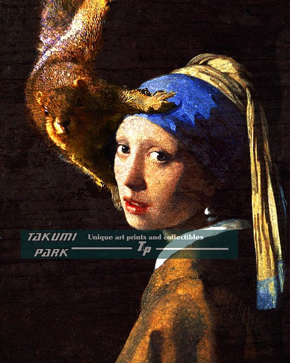 1298a737d90 Girl With Pearl Earring Squirrel Photo Bomb of Dutch by TakumiPark ...