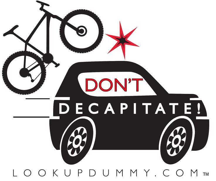 Don't Decapitate - Car Bike Roof Rack and Bike Rear Rack Windshield Reminder and Warning System - A Non-Adhesive Removable and Reusable Vinyl Window Cling - Save Your Bike Car and Rack from Damage!. Best Bike Roof and Rear Rack Warning System. Visual reminder to save your bikes and rack!!!. FREE and FAST Domestic Shipping with Full Lifetime Warranty. Removable and Reusable Non-Adhesive easily attaches to inside windshield and windows. 4 inches by 4 Inches with Design on Clear Backing…
