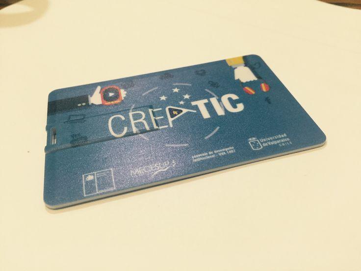 Tarjeta Pendrive de promoción que se repartió entre los asistentes a las jornadas de Creatic