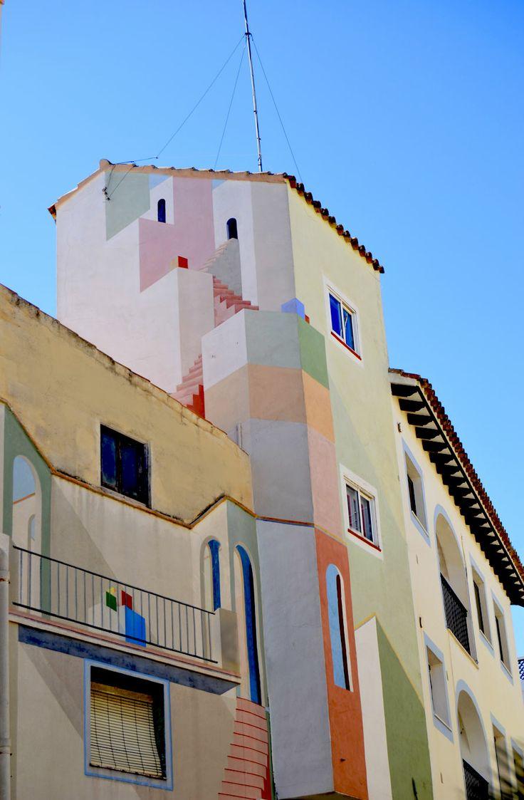 Fachadas pintadas/Painted facade. -Calpe-Spain
