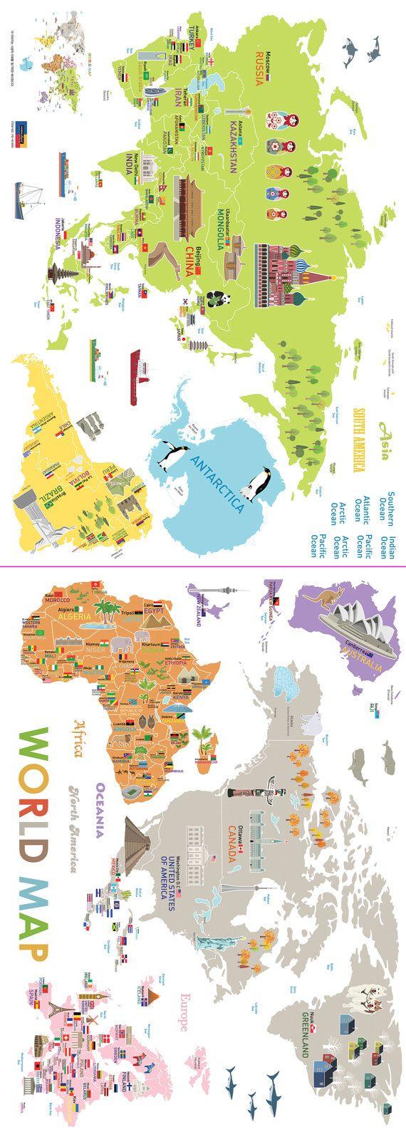 best 25 world map decal ideas on pinterest world map wall world map removable nursery wall art decor mural decal sticker 61005