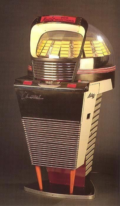 A most excellent Chantal Meteor 200 jukebox. #jukebox #vintageaudio #music http://www.pinterest.com/TheHitman14/ghosts-of-audios-past/