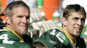 Brett Favre and Aaron Rodgers - Green Bay Packers
