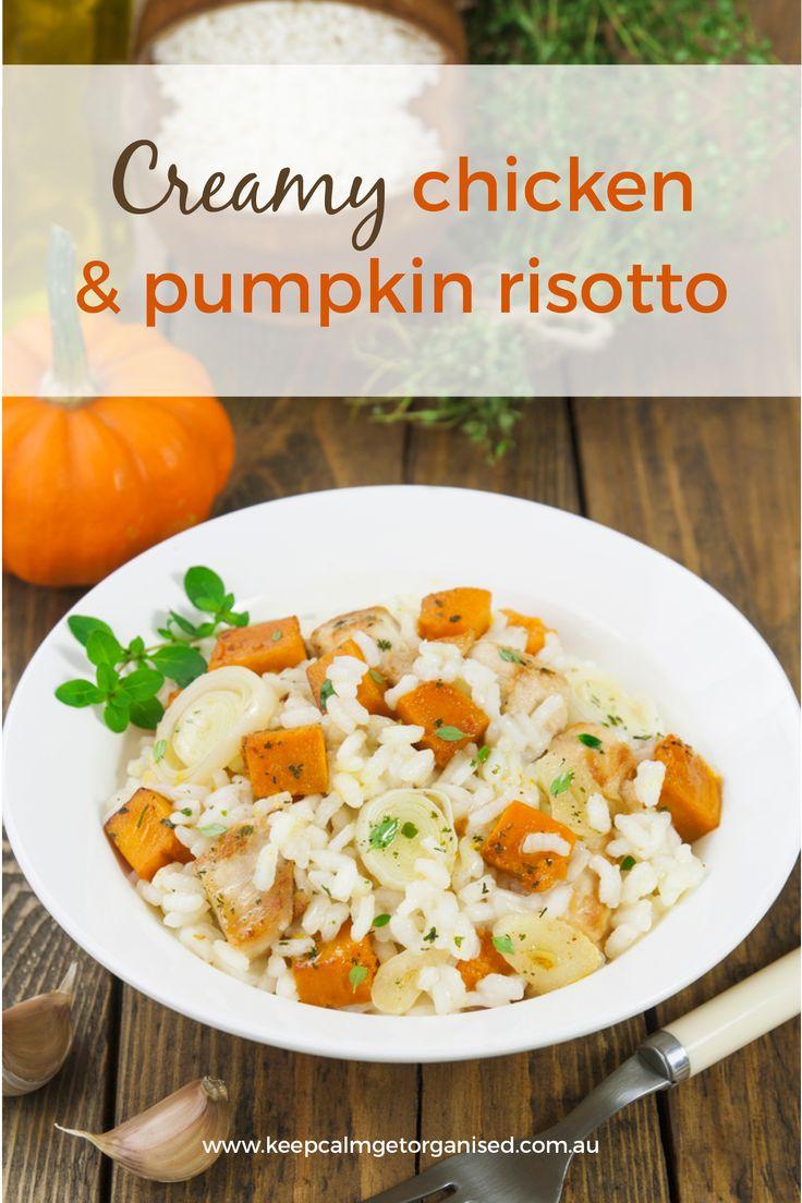 Creamy chicken and pumpkin risotto recipe