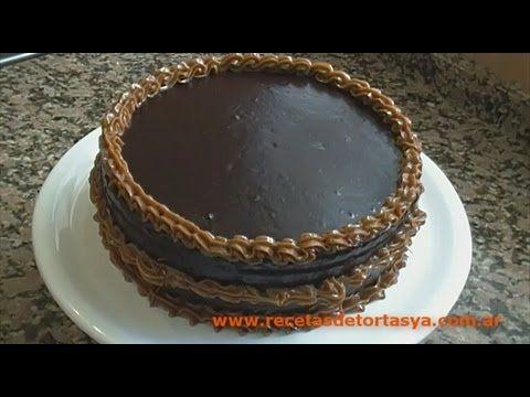 Torta de Chocolate con Cobertura de Chocolate y Dulce de Leche - Recetas de Tortas YA! - YouTube