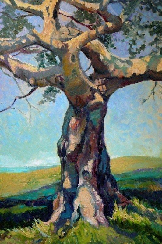 Ölgemälde – Baum des Lebens von Susan Pitcairn, Ölgemälde
