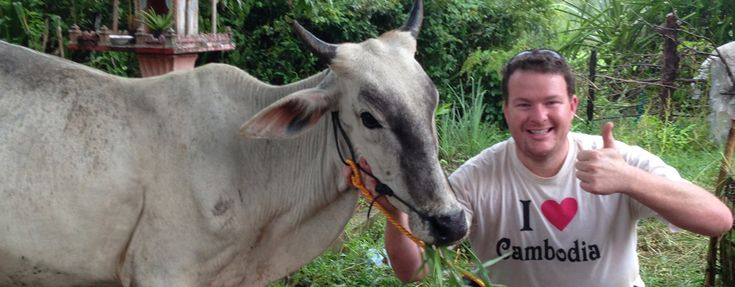 In 2013 I launched Cows for Cambodia. 60% of Cambodians earn less than $1 a day and those in rural villages have little or no possessions other than the straw huts they live in. However, if the family has a cow the future is so much brighter. Trouble is a cow is way out of reach for 99% of families. That's where we step in!!