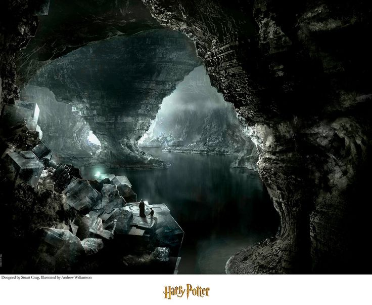Harry Potter - The Cave - Stuart Craig - World-Wide-Art.com - #harrypotter #jkrowling #stuartcraig