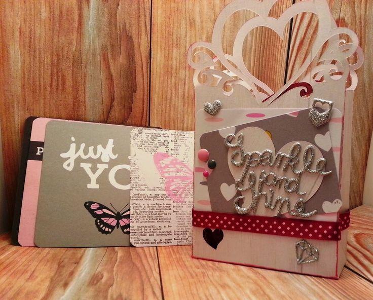 Bolsa con Bella Rouge de Pink Paislee y El Scrap de Pe #scrapbooking #bellarouge #pinkpaislee