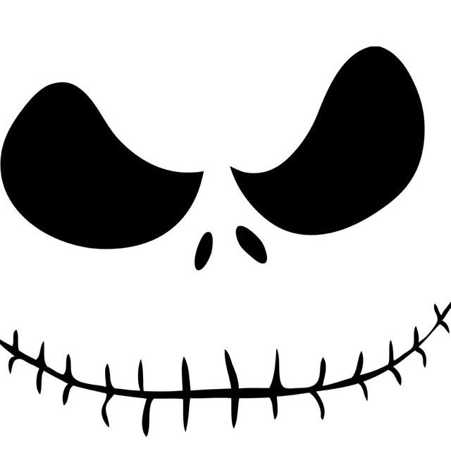 Jack skellington face halloween printables pinterest