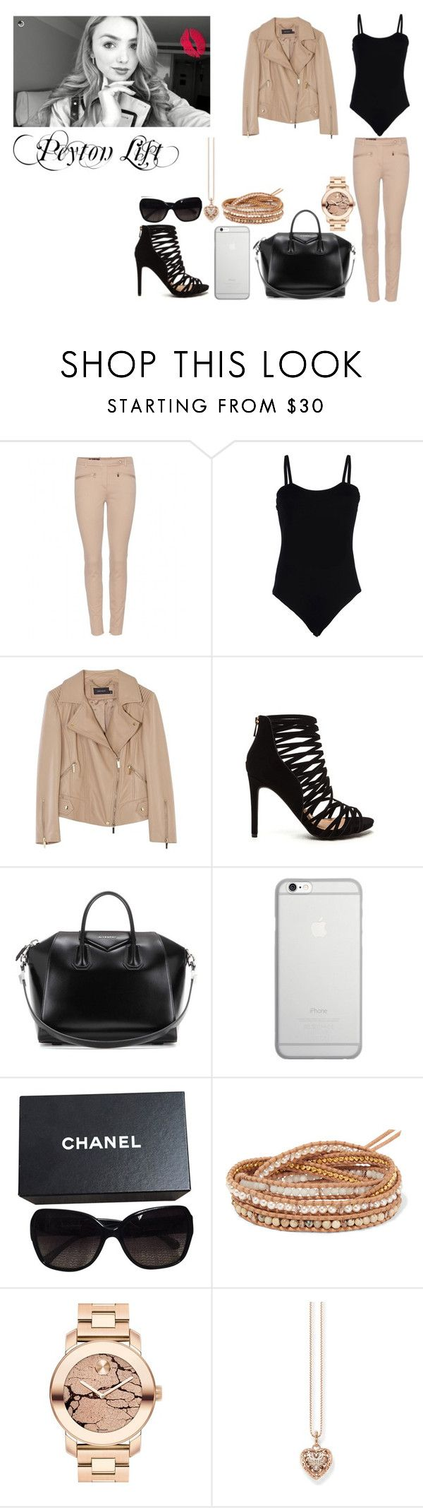"""Peyton List"" by ludya ❤ liked on Polyvore featuring Loro Piana, Baguette....., Karen Millen, Givenchy, Native Union, Chanel, Chan Luu, Movado and Thomas Sabo"