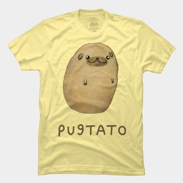 Pugtato T Shirt By SophieCorrigan Design By Humans