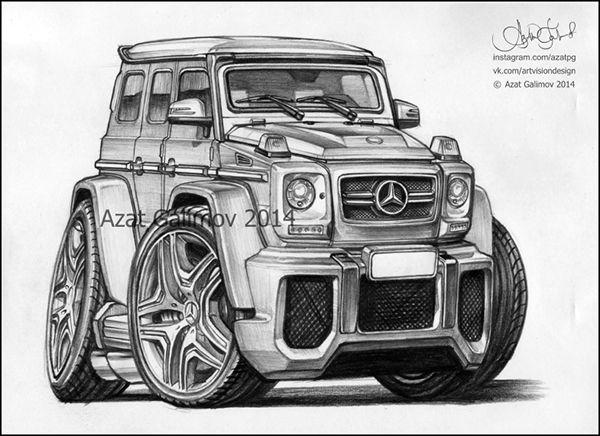 Mercedes-Benz G-Class Gelandewagen. Artist - Azater.