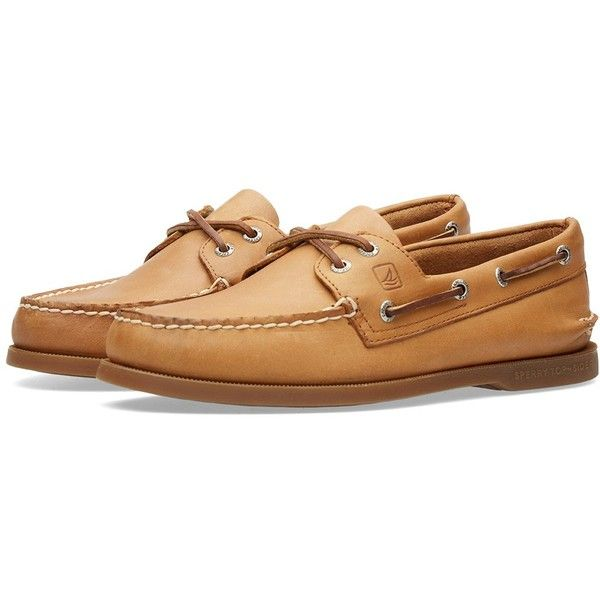 Sperry Topsider Authentic Original 2-Eye ($125) ❤ liked on Polyvore featuring men's fashion and men's shoes