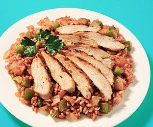 Cajun Chicken with Dirty Rice, easy chicken breast recipes, easy baked chicken