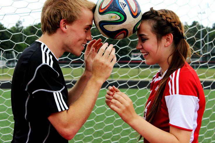 Soccer couple photos ❤️