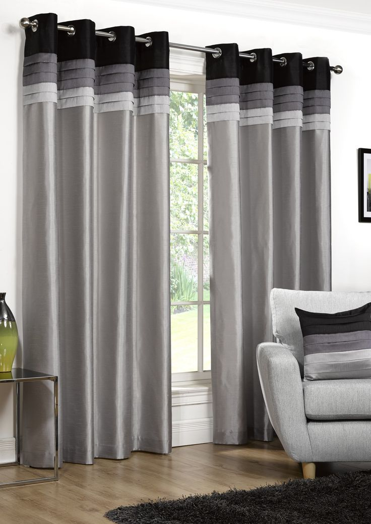 Seattle Silver & Black Eyelet, from £20.49 - classic and versatile these curtains are a perfect addition to a winter interior update.